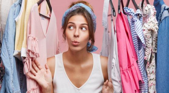 девушка гардероб